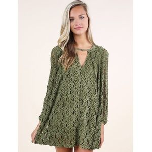 Altar'd State Onyx Lace Tunic Dress